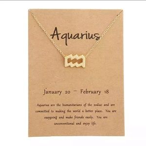 Jewelry - DAINTY 'AQUARIUS' ZODIAC SIGN NECKLACE